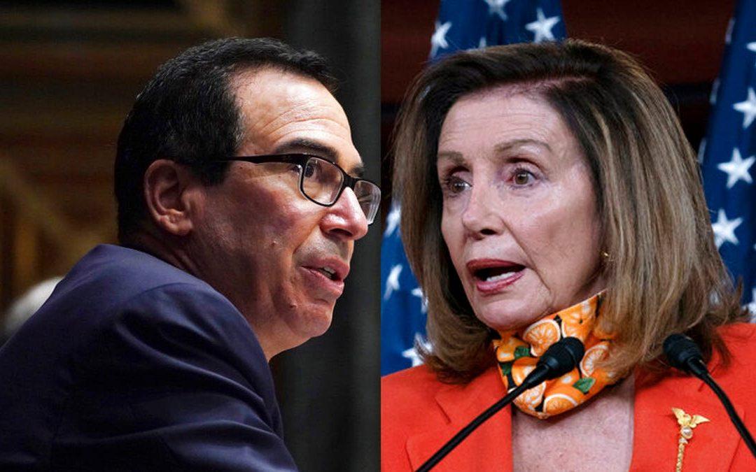 Pelosi y Mnuchin volverán a conversar sobre ayuda para estadounidenses por pandemia