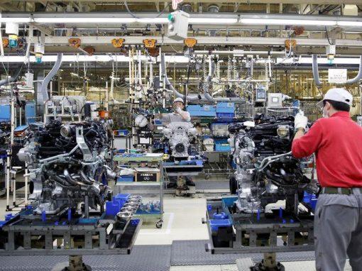 La producción industrial de Japón se contrajo en febrero
