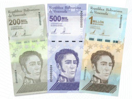 Banco Central de Venezuela incorpora tres nuevos billetes al devaluado cono monetario