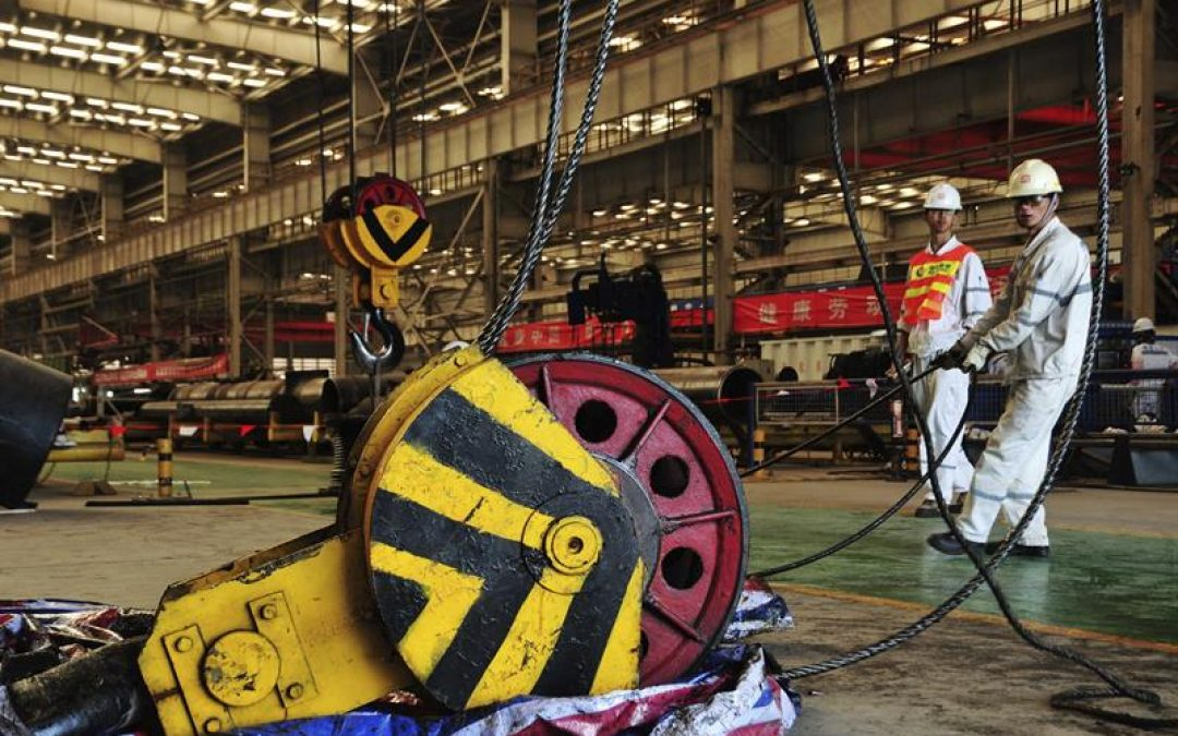 La industria manufacturera china avanzó menos de lo esperado en junio