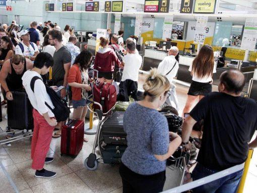 Número de pasajeros aéreos en España cayó un 76,1 % en mayo