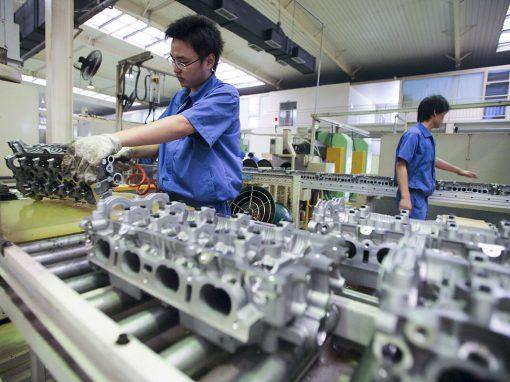 La industria manufacturera china retrocede en julio