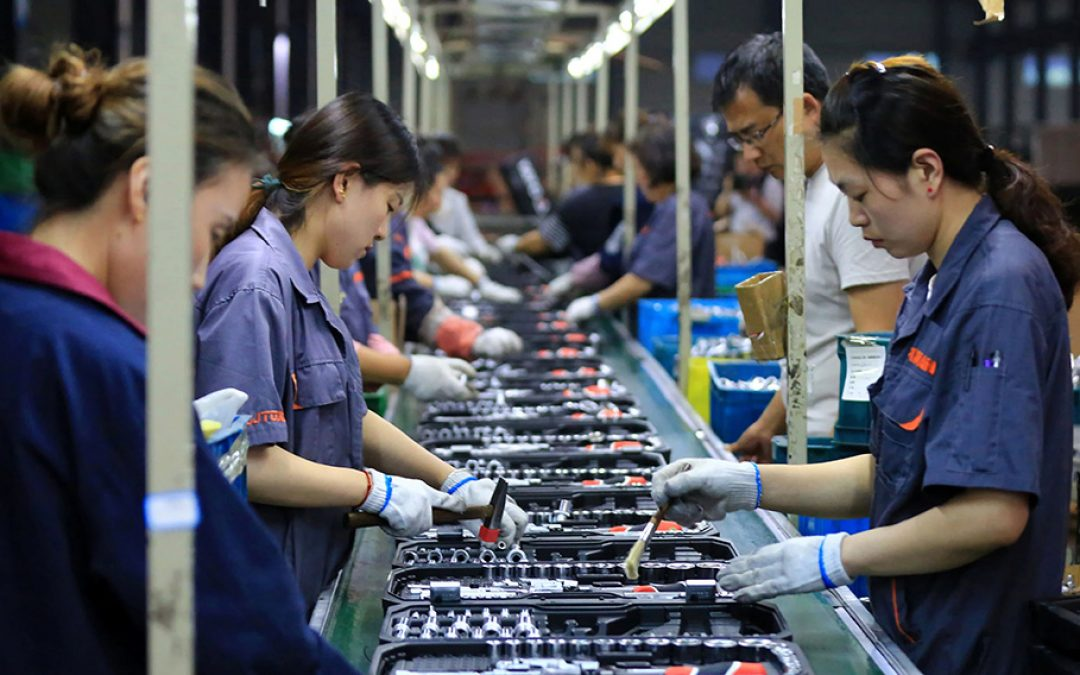 Producción industrial de China aumentó en agosto